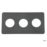 Air button topside plate - 3 way