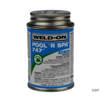 IPS Weld-On 747 Pool 'R Spa Flex Solvent Cement - 1/4 pint/118ml - Blue