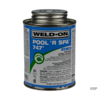 IPS Weld-On 747 Pool 'R Spa Flex Solvent Cement - 1/2 pint/237ml - Blue