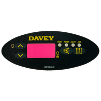 Spaquip Spa Power 601 Oval Touchpad Decal / Overlay