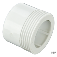 "1.5"" MPT Threaded Male Tail Adaptor x 2"" Spigot / 1.5"" Socket"