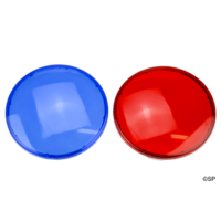 "Waterway 3.5"" and 5"" Jumbo Light Coloured Lens Pair - Blue and Red"
